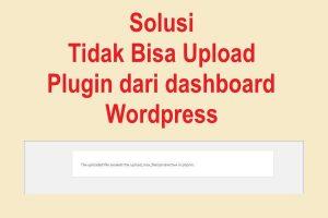 Solusi Tidak bisa upload plugin di wordpress
